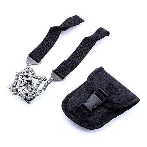 Alomejor Hand-Kettensäge inkl. Gürteltasche Tragbare Faltende Handdrahtsäge zum Sägen von Ästen und kleinen Bäumen