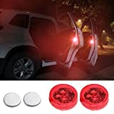 #9: Exclusive Gadgets Wireless Car Door Open Automatic Red Strobe Warning Light For Anti Collision, 1 Pair