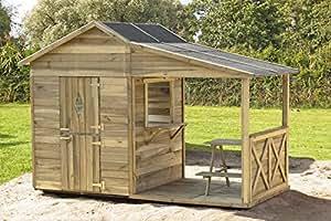 Avanti trendstore casetta per bambini con veranda in - Costruire veranda in giardino ...