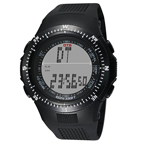 Men's Sports/waterproof/Multifunction electronic watch/Outdoor climbing/officer/Coach Watches/ledluminous watch-E