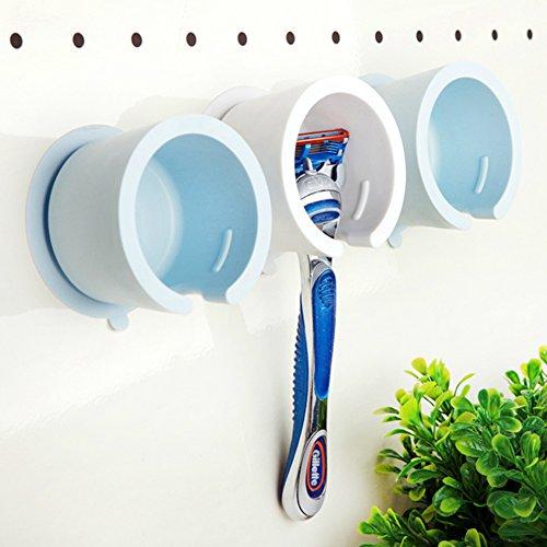 Kicode Astuce pratique Aspiration à vide Pour Rangement de salle de bain suspendu