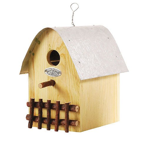 Buntes Vogelhaus Nistkasten Holz Natur 21cm