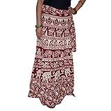 Wrap Around Cotton Long Skirt Maxi Women...