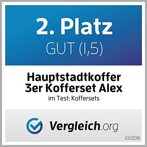HAUPTSTADTKOFFER - Alex - 3er Koffer-Set Trolley-Set Rollkoffer Reisekoffer Erweiterbar, 4 Rollen, (S, M & L), Titan Braun