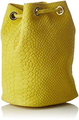 Petite Mendigote Damen Yuzu Umhängetasche, 7x16x15.5 cm Gelb (Lime)