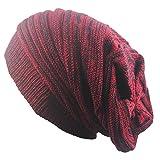 Outflower diadema de moda otoño y invierno en dos colores. Gorro de punto Hip Hop de lana cálida, a, 42-65cm