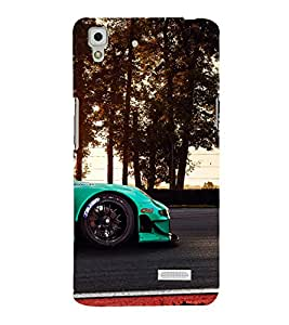 A2ZXSERIES Superfast Car Racing Road Back Case Cover for Oppo R7