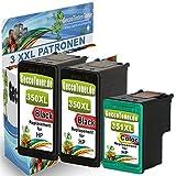 3er Set Druckerpatronen ersetzen Hp 350XL 351XL für HP Photosmart C5280 C4480 C4280 C4580 C4400 C4380 C4340, Deskjet D4260 D4360, Hp Officejet J5785