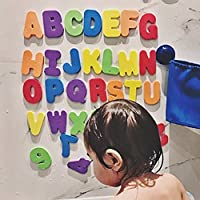 BIUBIUboom_Foam Numbers Letters Card Bath Toy Bathroom Alphabet Toys Stick On Foam Wall