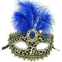 YUYU In pelle di Halloween maschera piuma maschera maschera Festival (5) , 1 - Piuma Maschera Di Halloween Costume