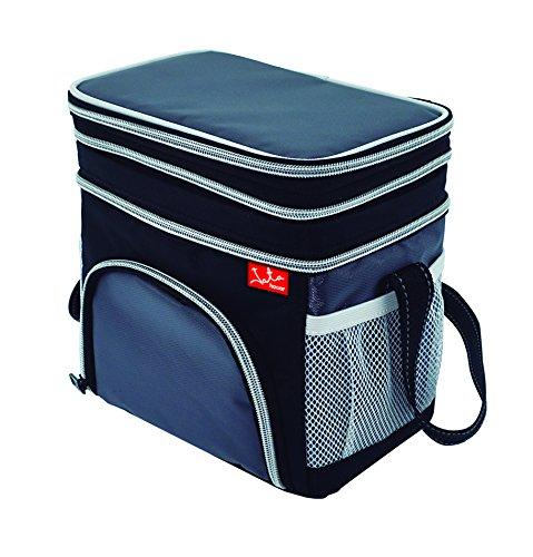 Jata Hogar Take Away Bolsa Térmica Porta Alimentos, Negro/Gris, 24X16X20 cm