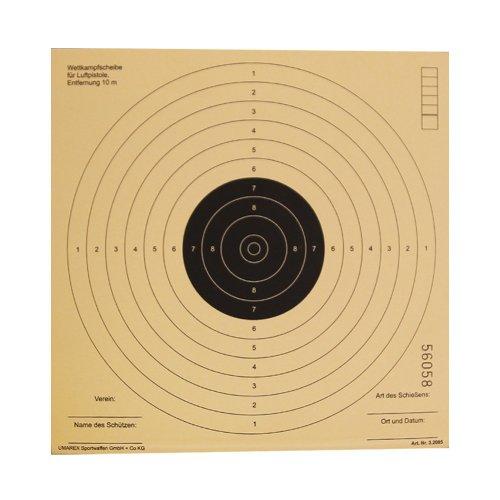 250 G8DS® Luftgewehrscheiben 17 x 17 cm / Zielscheiben für Luftgewehr Hohe Qualität