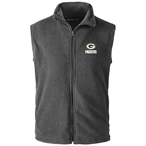 995a4282 Dunbrooke Apparel NFL Green Bay Packers Herren Fleece-Weste, Grau, XL