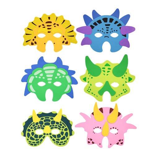 (Verschiedene Dinosaurier Schaumstoff Masken, 6Stück)