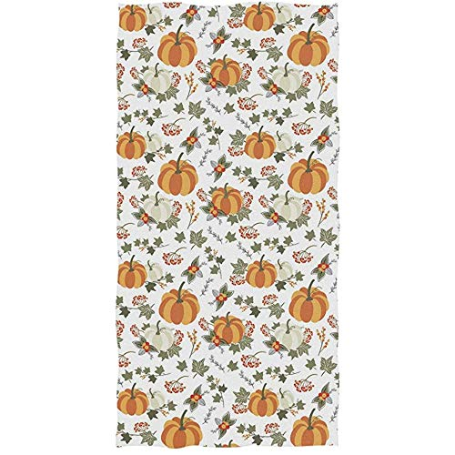 Gezellig Vesper Hand Towel,Chic Fresh Fall Pumpkin Flowers Floral Pattern Soft Absorbent Guest Home Decorative Hand Towels for Bathroom,Gym and Spa (27.5 * 17.5in) -