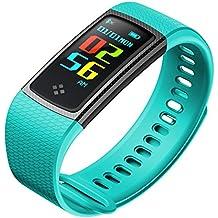 Pulsera actividad,Ips Lcd Pantalla Presión arterial Pulsera inteligente Con Dormir monitoreo Monitor de ritmo cardiaco Bluetooth Impermeable Podómetro Caballo Rastreador de actividad Para Android Y Ios-E
