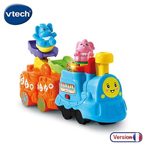 VTech - ZoomiZooz - Train Parade magique + lapin et éléphant - Animaux à collectionner