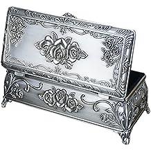 Infinite U plata envejecida o cama de matrimonio rosa rectangular de trinchar metálicos en forma de