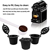 3 KAPSELN FÜR REUSABLE NACHFÜLLBARE RECARGABLES Nespresso-Kaffeemaschinen + 1 Kaffeelöffel