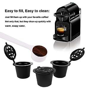 3 CAPSULE RICARICABILI RIUTILIZZABILI PER NESPRESSO CAFFE