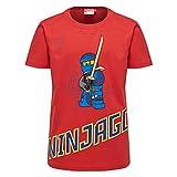 Lego Wear Jungen T-Shirt Lego Ninjago Thomas 301, Rot (Red 349), 128