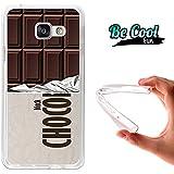 BeCool® Fun - Coque Etui Housse en GEL Flex Silicone TPU Samsung Galaxy A3 2016 , protège et s'adapte a la perfection a ton Smartphone et avec notre design exclusif.Tablette de chocolat noir