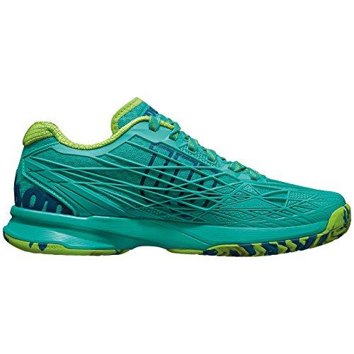 Wilson Kaos W Blue Iris, Baskets Basses Femme Green