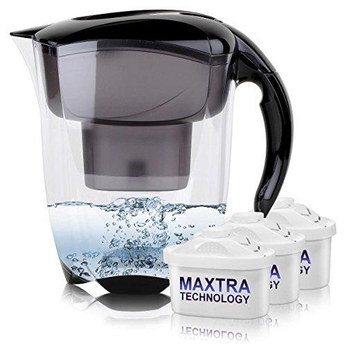 BRITA Elemaris XL 3,5L Wasserfilter schwarz inkl. 3x Maxtra Kartusche
