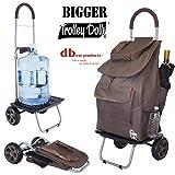 Größer Trolley Dolly, braun Einkaufstasche Lebensmittels faltbar Warenkorb