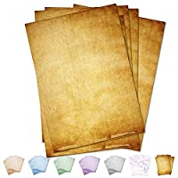 Partycards Writing Paper and Envelopes Vintage Design | Format DIN A4 (8.27 x 11.69 inches)| A4 90gsm | Double-Sided Printed, Suitable for All Printers