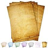 Partycards 50 Blatt Briefpapier doppelseitig bedruckt, geeignet für alle Drucker (Braun, Format DIN A4 (21 cm x 29,7 cm), Grammatur 90 g/m²)