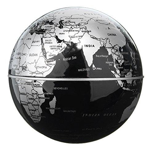 360 Degree World Map.Caveen 3 5 Magnetic Rotating Globe Levitation Floating Globe World