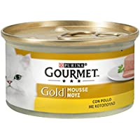 Purina Gourmet Gold Umido Gatto Mousse con Pollo, 24 Lattine da 85 g Ciascuna, Confezione da 24 x 85 g