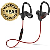 NALMAK QC-10 Wireless Sports Bluetooth Headset With Mic || Opoolo QC-10 Sweatproof Earbuds, Best For Running,Gym || Noise Cancellation || Stereo Sound Quality || Compatible With All Android/Ios Smartphone- Assorted Color