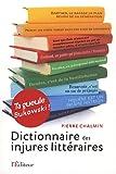 Dictionnaire des injures littéraires
