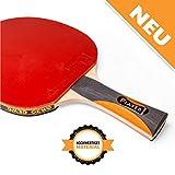 GEWO Erwachsene Thunderball 2 Hohe Kontrolle und Maximaler Spin Tischtennisschläger, Schwarz/Orange, One Size