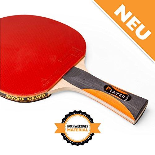 Preisvergleich Produktbild GEWO Erwachsene Thunderball 2 Hohe Kontrolle und MAXIMALER Spin Tischtennisschläger,  Schwarz / Orange,  One Size