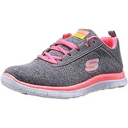 Skechers Flex AppealNext Generation, Sneaker donna, Grigio (Grau (GYCL)), 37