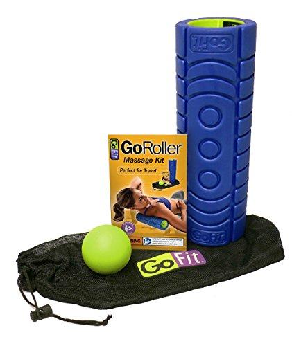 ge-Roller mit myofaszialer Release Ball, Tragetasche aus Netzstoff und Übung Handbuch, rot Balance (Go Fit Massage-ball)