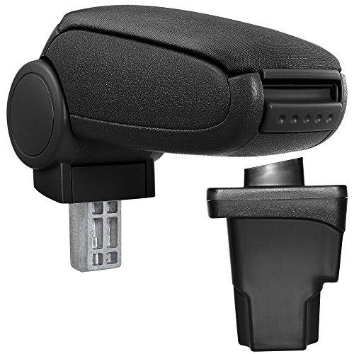 Mittel-Armlehne mit klappbarem staufach Farbe: SCHWARZ // ROT Mittelarmlehne Mittel-konsole Leder Fahrzeugspezifisch