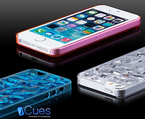 iCues Apple iPhone SE / 5S / 5 |  EIS Case Rot | [Display Schutzfolie Inklusive] Transparent Klarsichthülle Durchsichtig Klare Klarsicht Schutzhülle Hülle Cover Schutz Lila