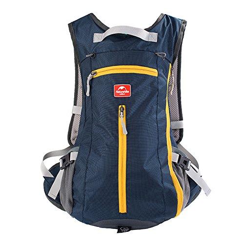 Sac à dos de randonnée Maleden résistant à l'eau pour sports d'extérieur Petit sac à dos pour le cyclisme, le ski, l'escalade et les voyages avec casque et porte-bouteilles, noir foncé, 15L