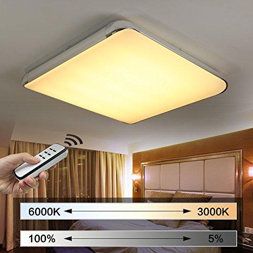NatsenR Moderno LED Lampara De Techo Salon I505y 50 W Completo Regulable Con Mando