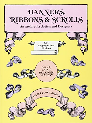 Banners, Ribbons and Scrolls (Dover Pictorial Archives) (Dover Pictorial Archive Series) (Tattoo T-shirt Design)
