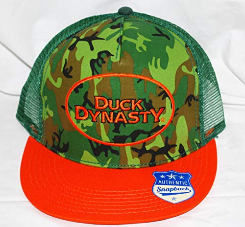 Duck Dynasty Snapback Logo Orange und Camouflage Mesh Cap - Orange Camouflage Cap