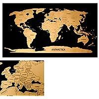 Rubbelweltkarte Weltkarte zum frei rubbeln Scratch off world map Rubbelkarte Landkarte