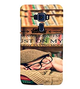 PrintVisa Funny Quotes Design 3D Hard Polycarbonate Designer Back Case Cover for ASUS ZENFONE 3 Deluxe