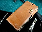 Urcover Original Akira Deluxe Edition Apple iPhone 6 Plus/6s Plus ECHT LEDER Handyhülle [Hand Made] feines Rindsleder Schutzhülle Wallet Handytasche Luxus Edition mit Kartenfach Braun