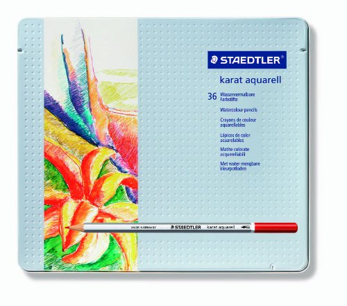 Staedtler Karat Aquarell Premium Aquarell Bleistifte, Set von 36Farben (125m36)