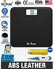 Dr Trust Absolute Leather Personal Digital Scale Weighing M